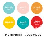 grunge post stamps collection ... | Shutterstock .eps vector #706334392