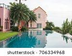 august 15 2017   swimming pool... | Shutterstock . vector #706334968