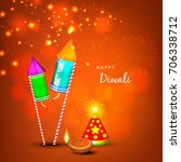 creative greeting card design... | Shutterstock .eps vector #706338712