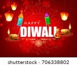 creative diwali festival... | Shutterstock .eps vector #706338802