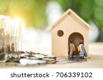 mortgage concept. money and...   Shutterstock . vector #706339102