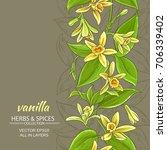 vanilla flowers vector pattern... | Shutterstock .eps vector #706339402