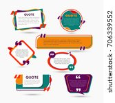 quote bubbles   modern vector... | Shutterstock .eps vector #706339552