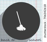 mop icon. floor cleaning object. | Shutterstock .eps vector #706342618