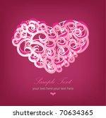 big pink heart | Shutterstock .eps vector #70634365