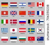 flag icon set. national flags... | Shutterstock . vector #706350238
