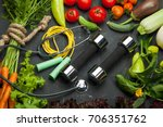 healthy food fruit mix salad... | Shutterstock . vector #706351762