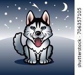 gray wolf   Shutterstock .eps vector #706357105