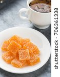 homemade orange marmalade candy.... | Shutterstock . vector #706361338