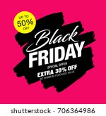 black friday sale banner | Shutterstock .eps vector #706364986