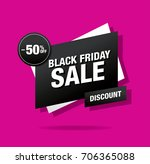black friday sale banner | Shutterstock .eps vector #706365088