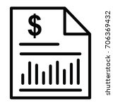 bank statement vector icon   Shutterstock .eps vector #706369432