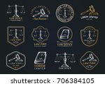law office hand drawn logotypes ... | Shutterstock .eps vector #706384105