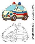 cartoon happy and funny... | Shutterstock . vector #706389298
