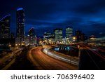 cityscape of london at night in ... | Shutterstock . vector #706396402