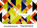 triangle pattern design... | Shutterstock . vector #706399405