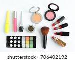 fashion professional makeup... | Shutterstock . vector #706402192