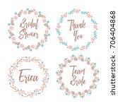 bridal shower badge team bride... | Shutterstock .eps vector #706404868