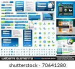 web design elements extreme... | Shutterstock .eps vector #70641280