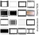 set of film frame  ... | Shutterstock . vector #706417828