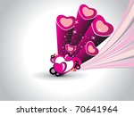 abstract wave background with... | Shutterstock .eps vector #70641964