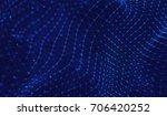 abstract digital background... | Shutterstock . vector #706420252