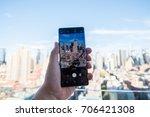 new york  august 2017   samsung ...   Shutterstock . vector #706421308