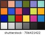 color checker card board   Shutterstock . vector #706421422