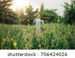 thai scarecrows in rice field. | Shutterstock . vector #706424026