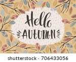 autumn templates. vector design ... | Shutterstock .eps vector #706433056