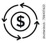 return on investment vector icon | Shutterstock .eps vector #706437622