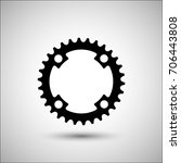 bicycle chainring. vector icon. ... | Shutterstock .eps vector #706443808