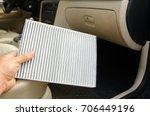 hand of mechanik is changing a... | Shutterstock . vector #706449196