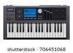 music synthesizer. realistic... | Shutterstock .eps vector #706451068