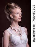 beautiful gorgeous woman in... | Shutterstock . vector #706457806