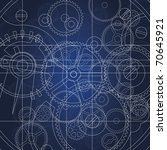 gears blueprint | Shutterstock .eps vector #70645921