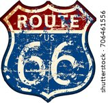 vintage route sixty six road... | Shutterstock .eps vector #706461556