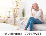 elegant pretty muslim woman...   Shutterstock . vector #706479295