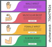 human body parts web banner... | Shutterstock .eps vector #706479826