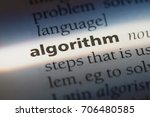 algorithm word in a dictionary. ... | Shutterstock . vector #706480585