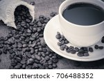 coffee espresso and coffee cup... | Shutterstock . vector #706488352
