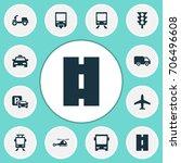 transportation icons set.... | Shutterstock .eps vector #706496608