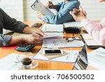 business meeting businessmen... | Shutterstock . vector #706500502