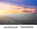 asphalt road and beautiful sky... | Shutterstock . vector #706505896