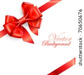 red bow isolated on white.... | Shutterstock .eps vector #70650676