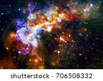Colorful Galaxy In Outer Space...