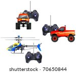 Remote Control Toys In Vector....
