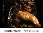 Small photo of Texture date fruit with a ossicle, macro
