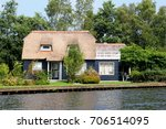 Dutch Blue Wooden House In...