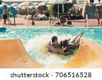 hot girls having fun on the... | Shutterstock . vector #706516528